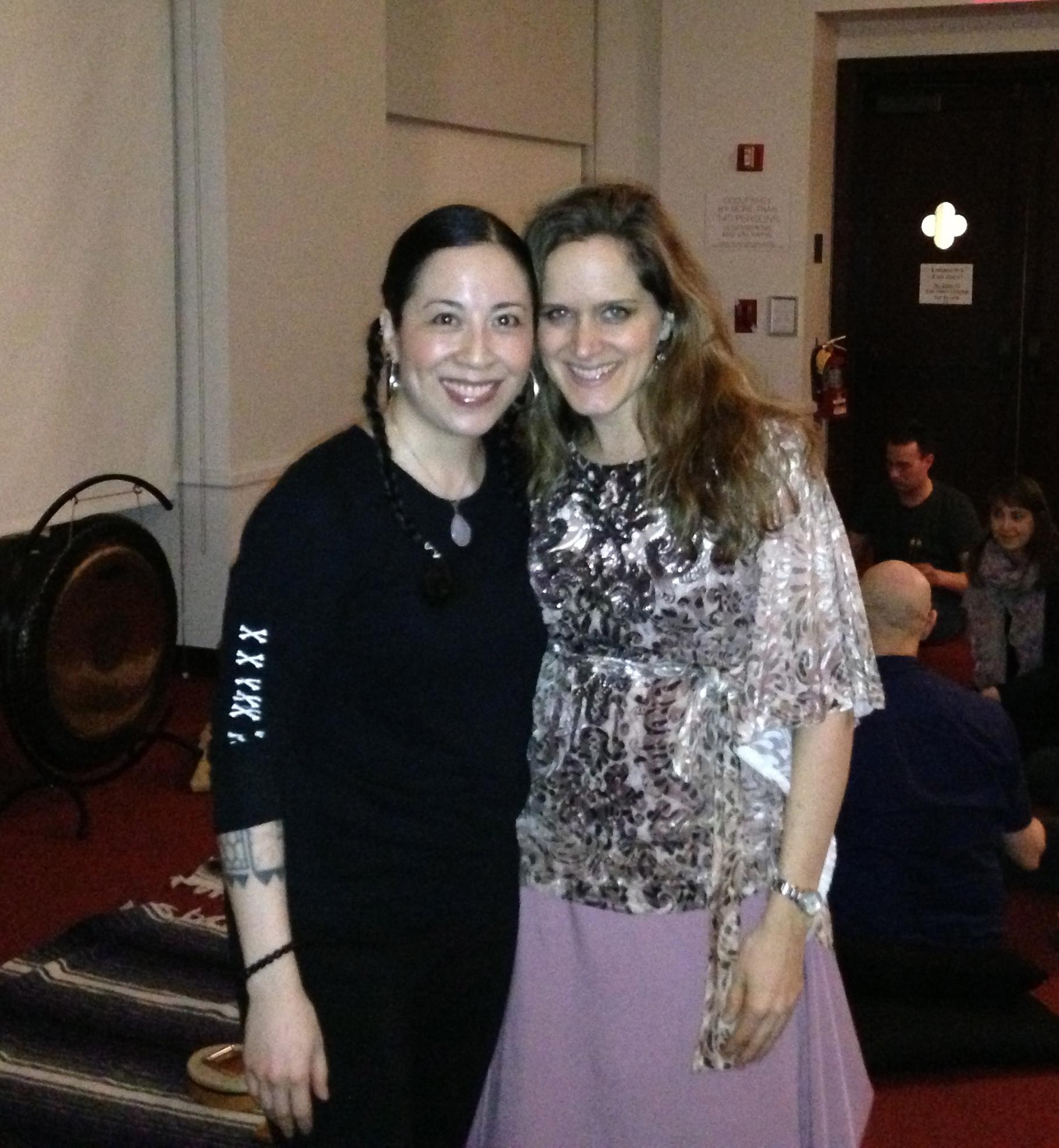 Joule L'adara and I at last Saturday's Sound Soak concert.