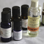 A photo fo the essential oils that Margarita uses for oil therapy and aromatherapy