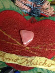 My Rhodochrosite tumbled stone.