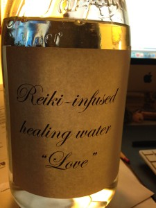 "Reiki-infused healing ""Love"" water."