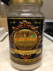 My favorite brand of coconut oil, Tropical Traditions Gold Label Virgin Coconut Oil.