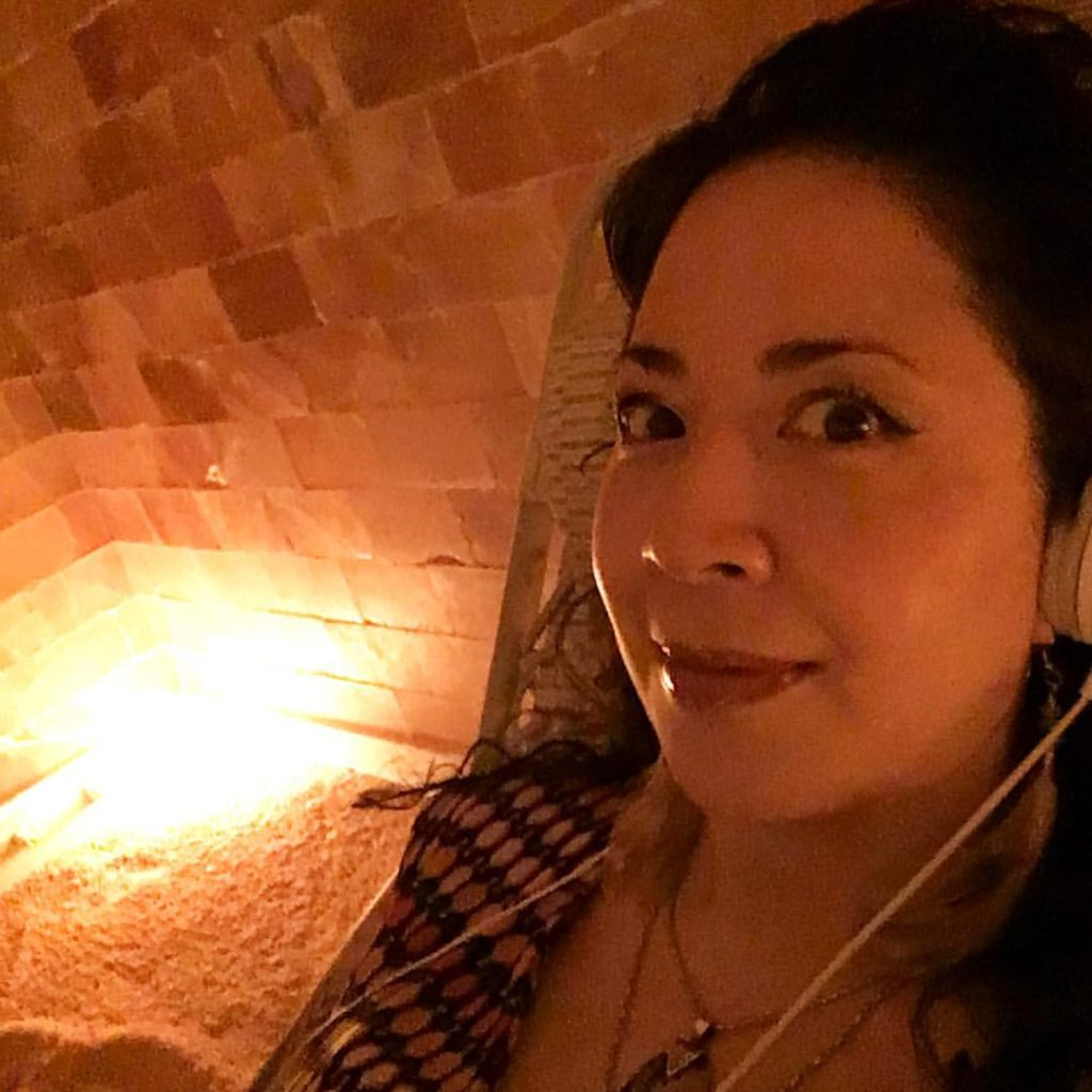 Selfie at Breathe Salt Rooms. Copyright © 2016 by Alcantara Acupuncture & Healing Arts. All rights reserved.